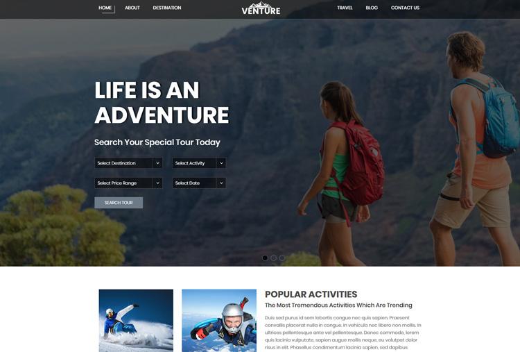 Adventure HTML Template