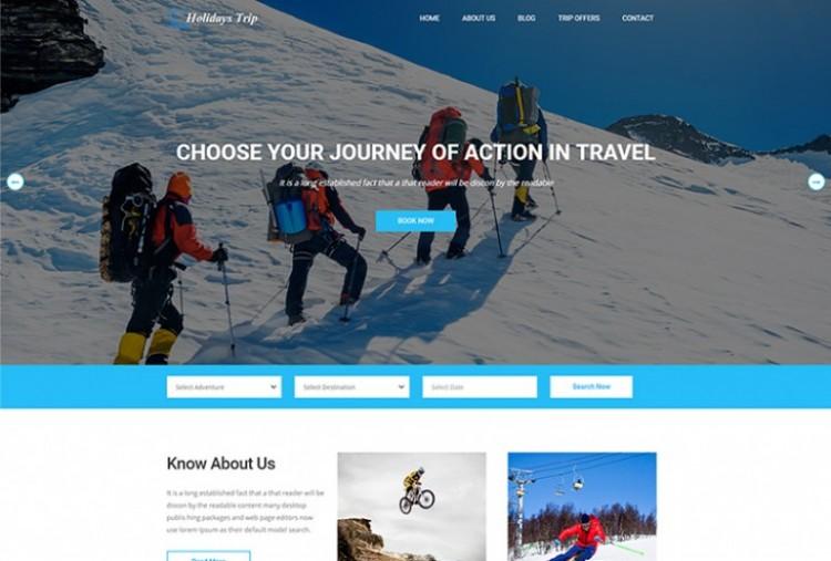 Adventures Trip html template