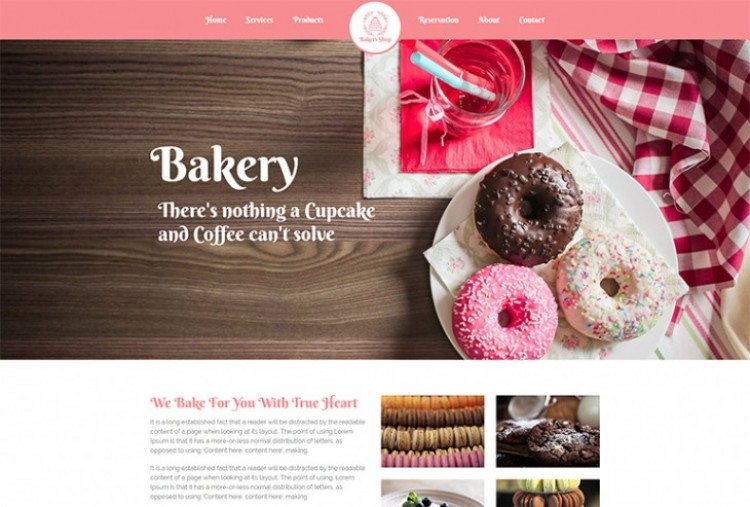 Bakers Shop HTML Template