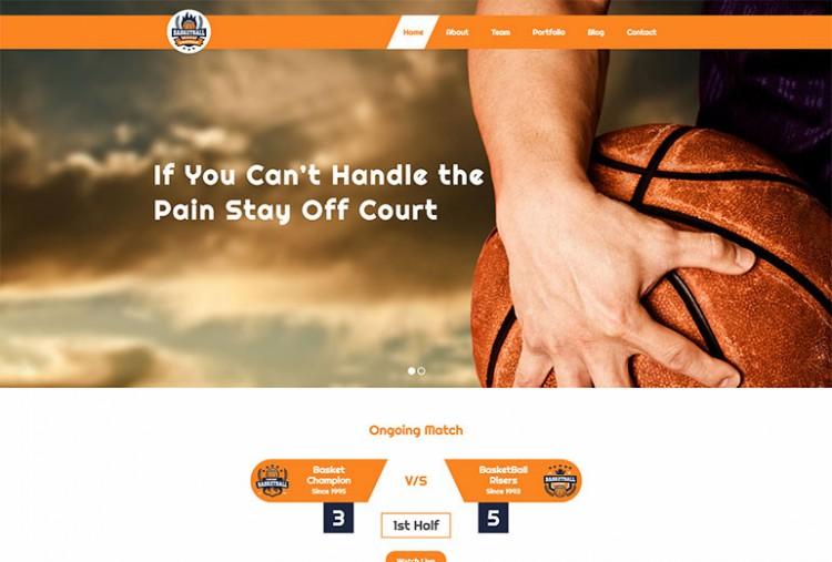 Basketball Website Template