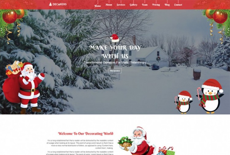 Christmas Decoration HTML Template