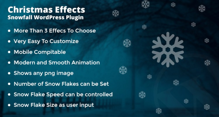 Christmas Effects - Snowfall WordPress Plugin