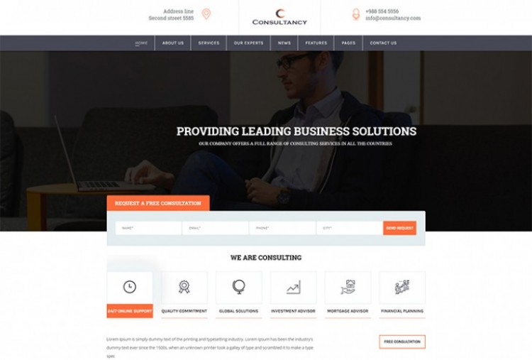 Consultancy Services html template