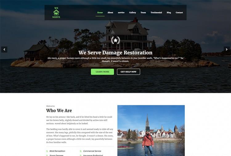 Damage Restoration HTML Template