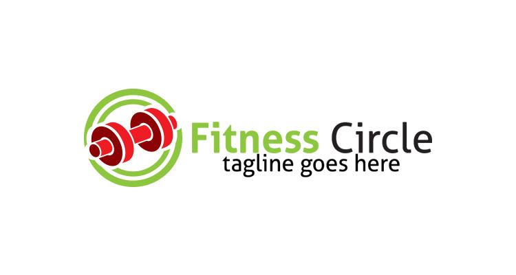 Dumbbell Circle Logo