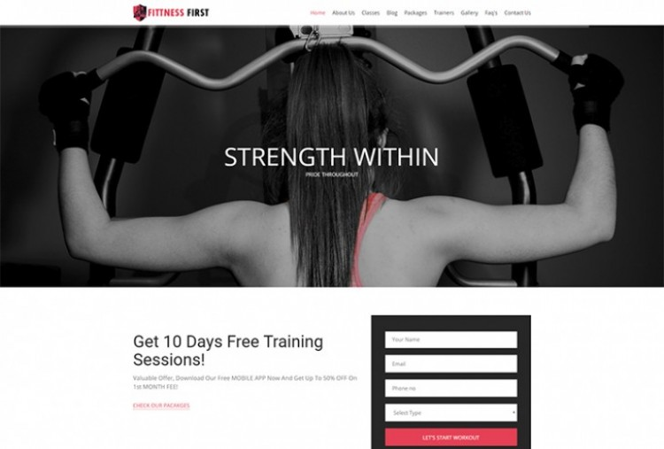 Fitness First HTML Template
