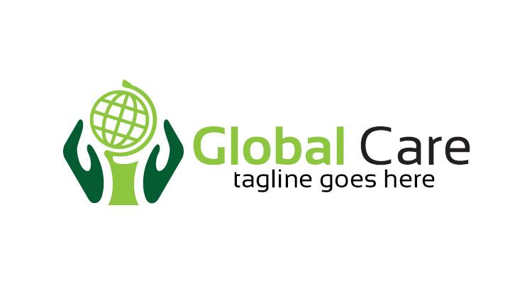 Globe Hands Logo