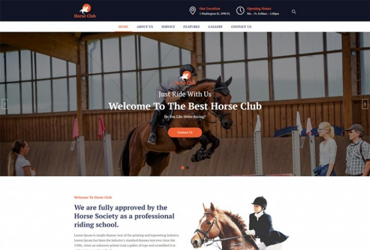 Horse Club html template