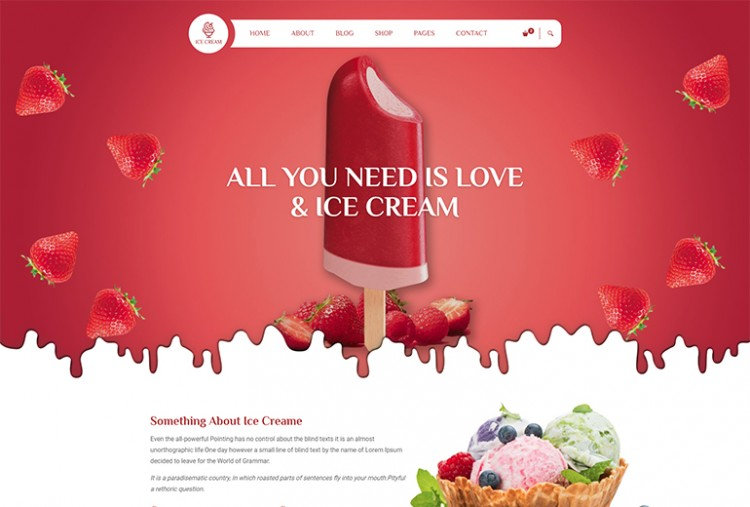 Icecream Html Template