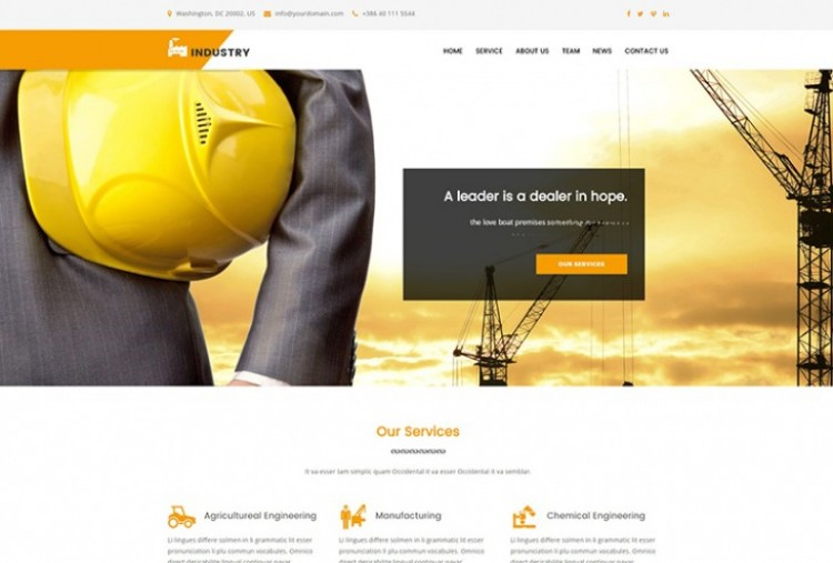 Industrial html template