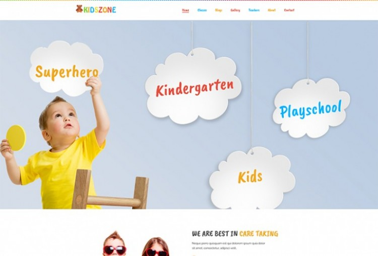 Kids Zone HTML Template