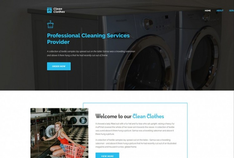 Laundry Service Html Template