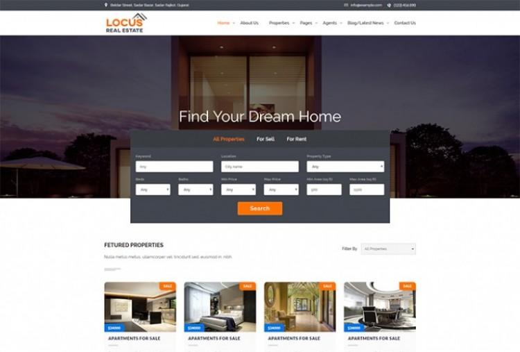 Locus Real-estate HTML Template