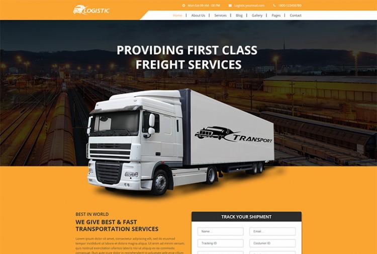 Logistic Website HTML Template