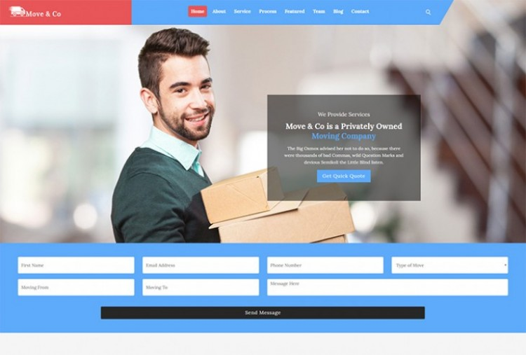 Movers and Packers HTML Template