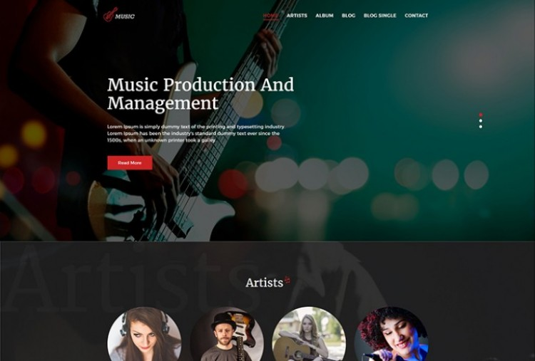 Music Agency HTML Template