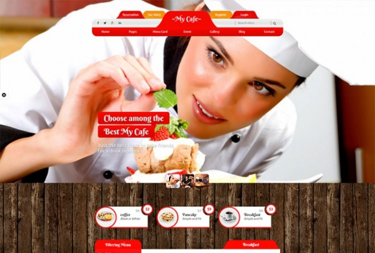 My Cafe website HTML Template