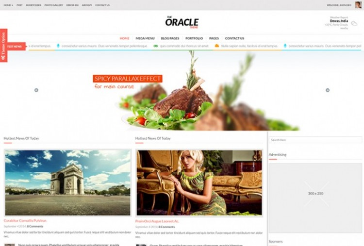 Oracle HTML Template