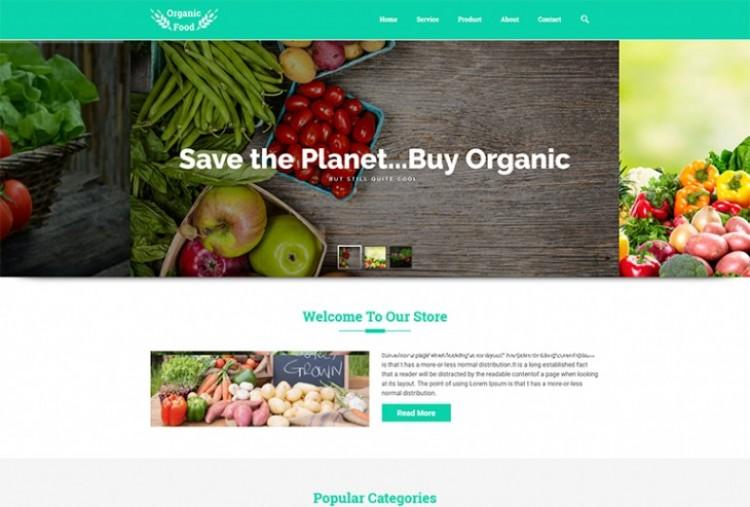 Organic Food HTML Template