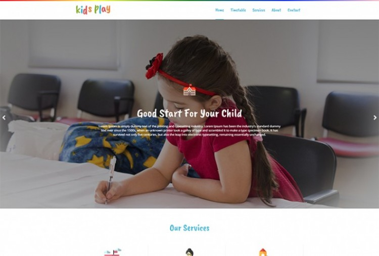 Play School HTML Template
