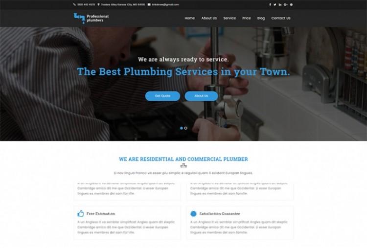 Plumber HTML Template