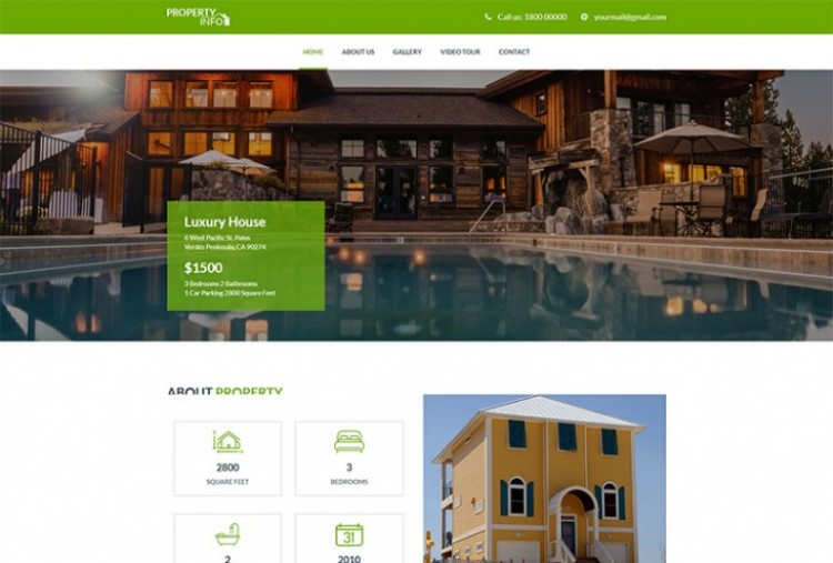 Property Info html template