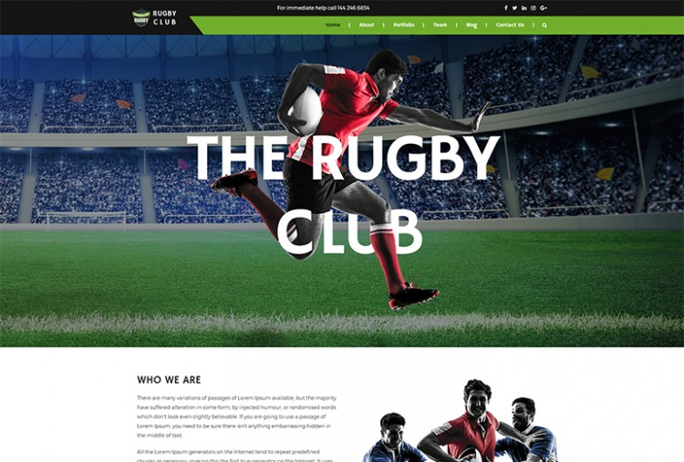 Rugby Club HTML Template