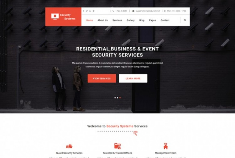 Security Services Html Template