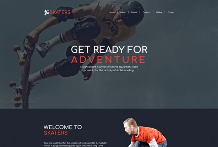 Skateboard html template