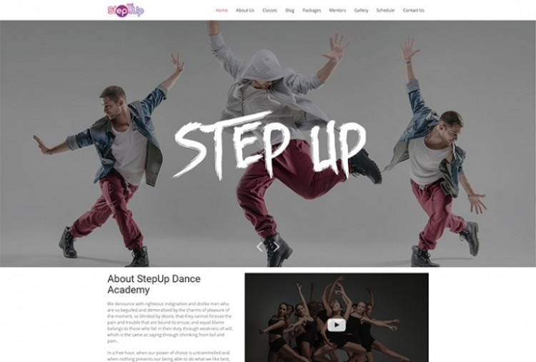 Step Up HTML Template