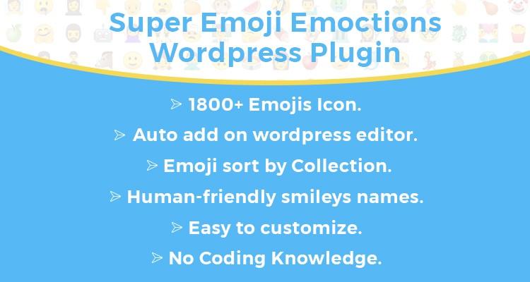 Super Emoji Emoticons WordPress Plugin