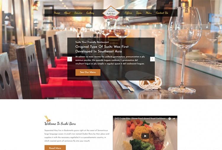 Sushi Bar HTML Template