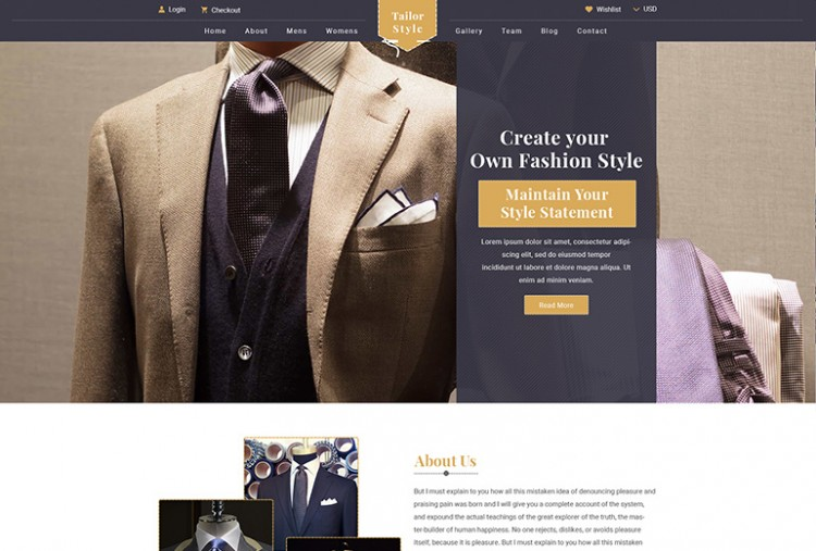 Tailor Shop Website HTML Template
