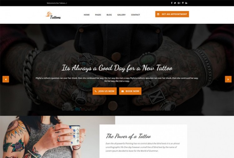 Tattoo html template