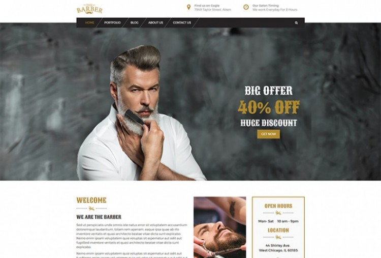 The Barber HTML Template