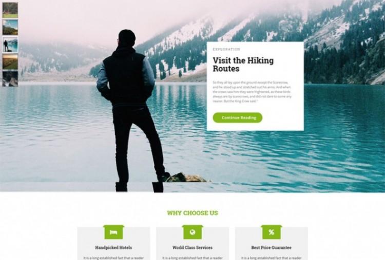 Trip Organizer HTML Template
