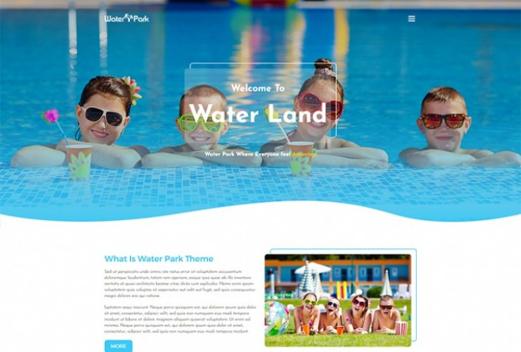 Water Park HTML Template