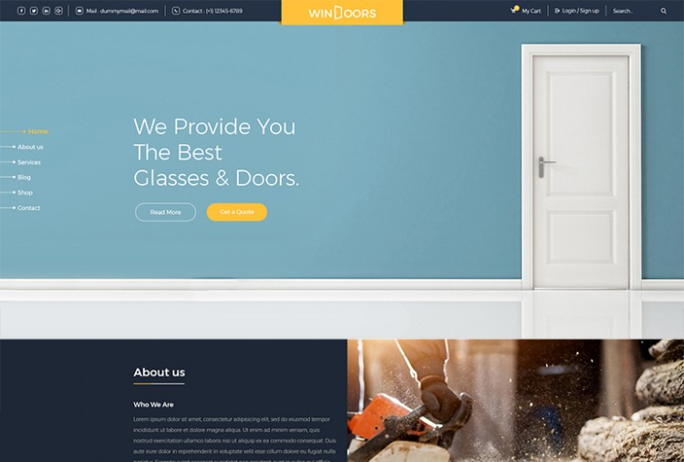 Windoor HTML Template