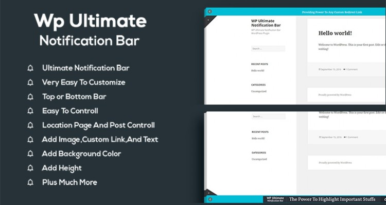 WP Ultimate Notification Bar