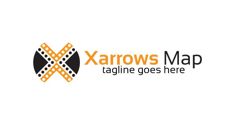 X Letter Arrows Logo